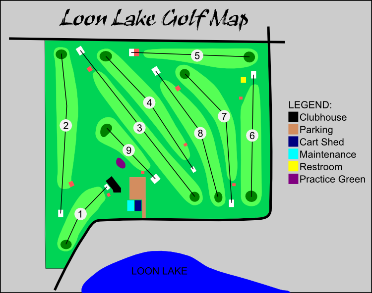 Loon Lake Golf course map
